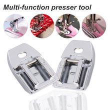 цена на Stainless Steel  1Pc Presser Sewing Machine Foot Accessories Convenient Household Sewing Machine Shell Hemmer Part Binder