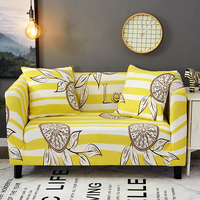 Yellow Stripes Universal Stretch Furniture Slipcovers For Living Room Elastic Tight Wrap All Inclusive Slip Resistant