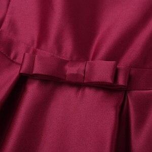 Image 5 - Nuovo Arrivo Delle Ragazze di Raso Increspato Fly Maniche Bowknot Vestito Dalla Ragazza di Fiore Della Principessa di Spettacolo di Cerimonia Nuziale della Damigella Donore Vestito Da Festa di Compleanno