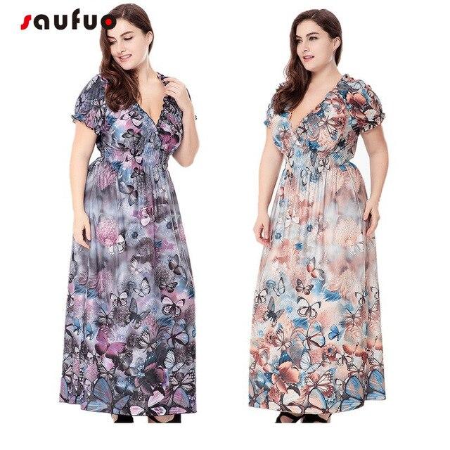 83fe65db26ee1 empire v neck short sleeve fit flare plus size summer dresses for women 4xl  5xl 6xl sun dress long sundresses large sizes v307