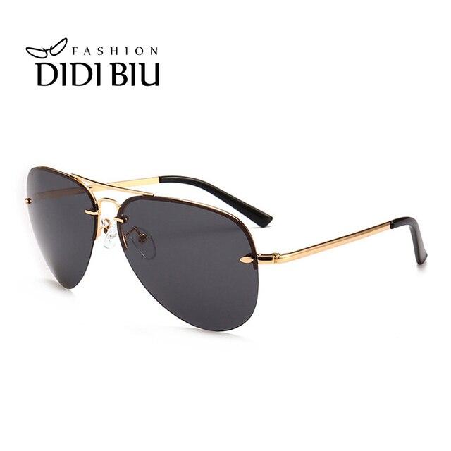 460ddf7e2c2d5 DIDI Casal Polarizada Óculos De Sol Das Mulheres Marca Aviação Fina Armação  de Metal Plana Óculos