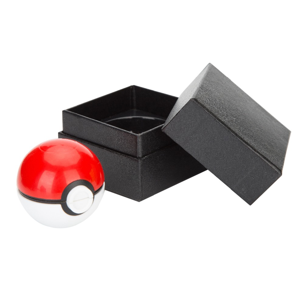 Newest Game 50mm Grinder Pokemon and Pokeball Pikachu Tobacco Weed Herb Grinder with Gift Boxs