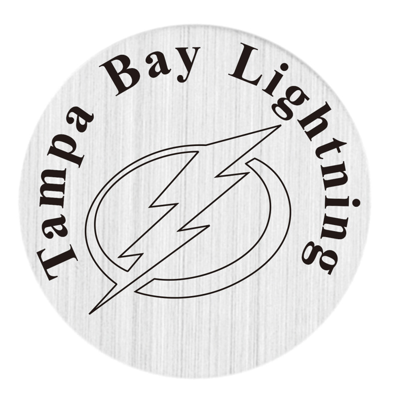 Tampa Bay Lightning 22mm Stainless Steel Floating Locket Plate NHL Floating Charms Fit 30mm Living Glass Lockets 20pcs/lot