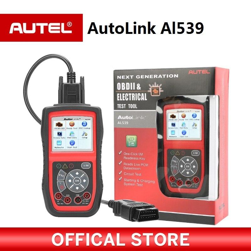[Distributeur AUTEL] AutoLink AL539 PROCHAINE GÉNÉRATION OBD2 + Électrique Outil de Test Automatique Lien AL 539 Mise À Jour Internet Multilingue menu
