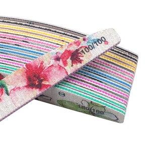 Image 3 - Ensemble de limes à ongles imprimées fleurs, bloc tampon coloré 80/100/150/180/240/320, outil de manucure, nouveau