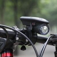 Solar Power Light Bike Wodoodporna Światło Rowerów USB Akumulator Lampy Przednie Reflektory LED Light Bike Kolarstwo Latarka