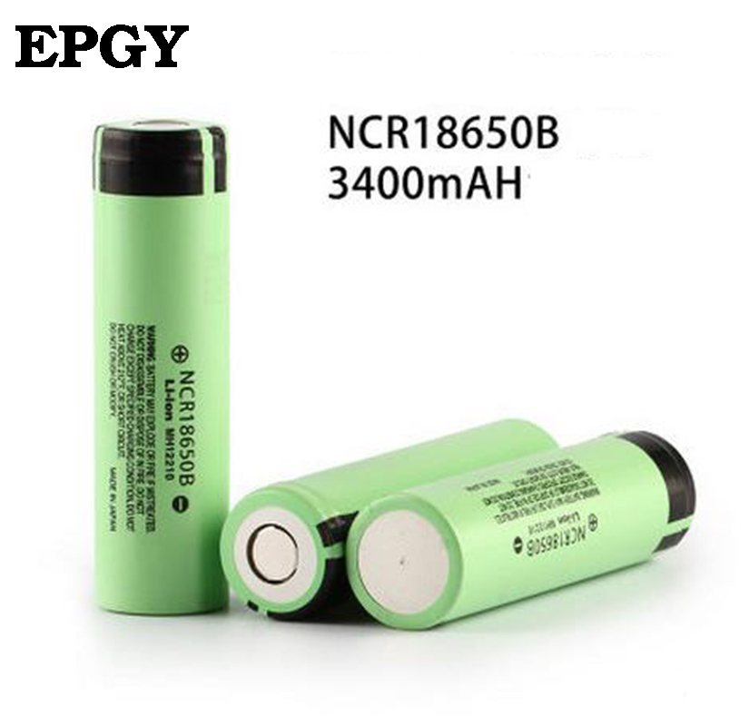 EPGY <font><b>100</b></font>% New Original NCR18650B <font><b>3.7</b></font> <font><b>v</b></font> 3400 <font><b>mah</b></font> 18650 Lithium Rechargeable Battery For Flashlight without PCB Protected image