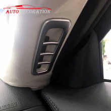 Car styling Interior Accessories Matte Front  Air Vent Frame Cover 2*  For Mazda CX-5  CX5  2nd Gen  2017 2018