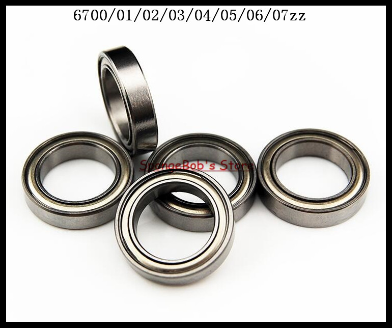 50pcs/Lot 6700ZZ 6700 ZZ 10x15x4mm Thin Wall Deep Groove Ball Bearing Mini Ball Bearing Miniature Bearing nokia 6700 classic illuvial