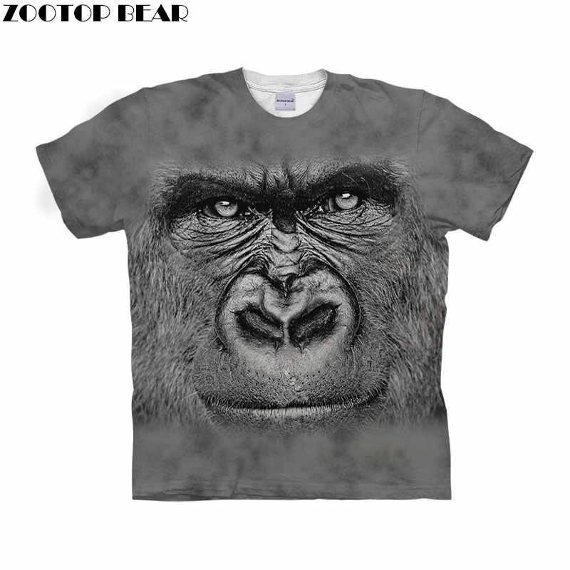 b8176fb7491 Anime Monkey t shirt 3d t-shirt Men tshirt Fashion Tee Animal Prints Top  Summer