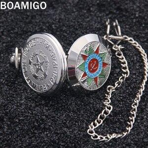 Image 3 - Мужские наручные часы BOAMIGO, серебристые наручные часы с подвеской в стиле «милитари»