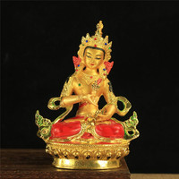 6 inch Buddhist Efficacious Alloy Metal Gilding Vajrasattva Buddha Statue Tibetan Home Putting Decoration Oranments