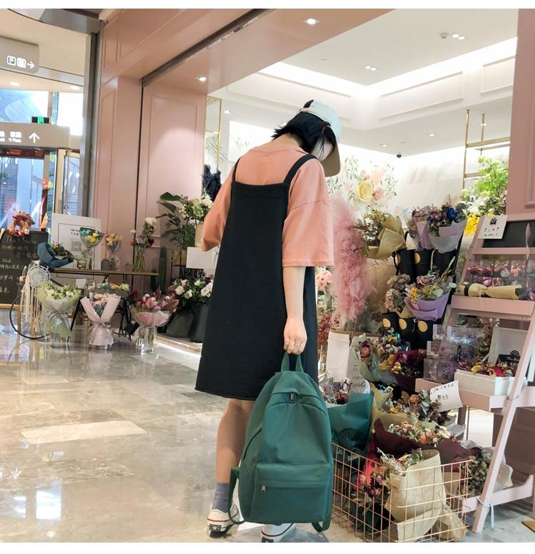 HTB1SKfRXBv0gK0jSZKbq6zK2FXas 2019 Backpack Women Backpack Solid Color Women Shoulder Bag Fashion School Bag For Teenage Girl Children Backpacks Travel Bag