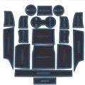 18 piece/set For Land rover 15 years Discovery Sport High configuration/low configuration latex gate slot cushion non-slip mat