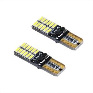 Image 4 - 100PCS אוטומטי LED T10 W5W Canbus 194 4014SMD 24LED הנורה קריאת עמילות חניה פנים אור 6000K עבור Motocycle סיטונאי 12V