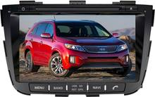 8 inch two Din Wince 6.0 Car DVD Player for Kia Sorento 2013 2014 Car Stereo Radio gps bluetooth USB SD FM free shipping