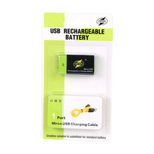 USB Rechargeable 9V Lipo Battery ZNTER S19 400mAh RC For microphone and Camera Drone Accessories with usb cable