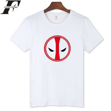 LUCKYFRIDAYF Deadpool Cotton T shirt Men Funny Street Summer Brand Men Tshirts 2016 Street Wear Style in White Soft Cotton Tees