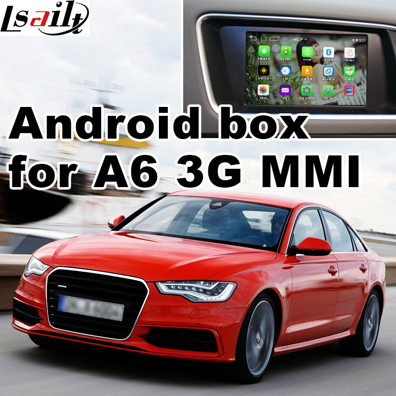 Android 6.0 boîte de navigation de généralistes pour Audi A6 A7 3g système MMI interface vidéo boîte miroir lien youtube facebook HD vidéo jouer