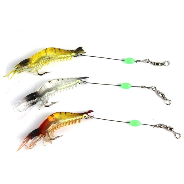 Realistic Shrimp Lure Soft Silicone Fishing Lure 9cm 5pcs Set