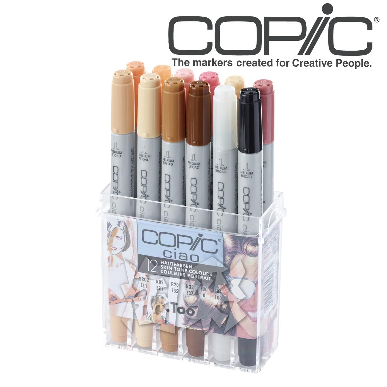 Купить с кэшбэком Copic Art Markers Set Color Pen Animation Sketch Drawing Copic Alcohol Anime Brush Marker Pen