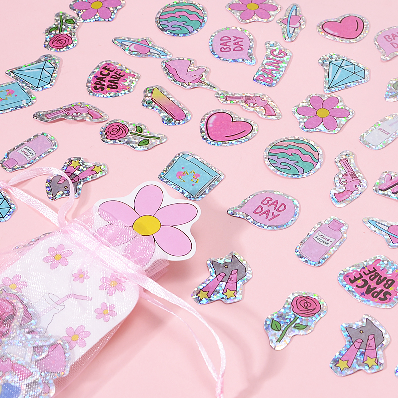 100 Pcs/bag PVC Japanese Cat Cute Girl Custom Stickers Kawaii Planner Scrapbooking Stickers Stationery Escolar School Supplies