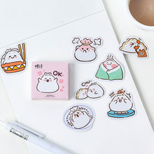 45 pcs/box cute Dumplings mini paper sticker DIY decoration Scrapbooking Label Seal Sticker kawaii Stationery