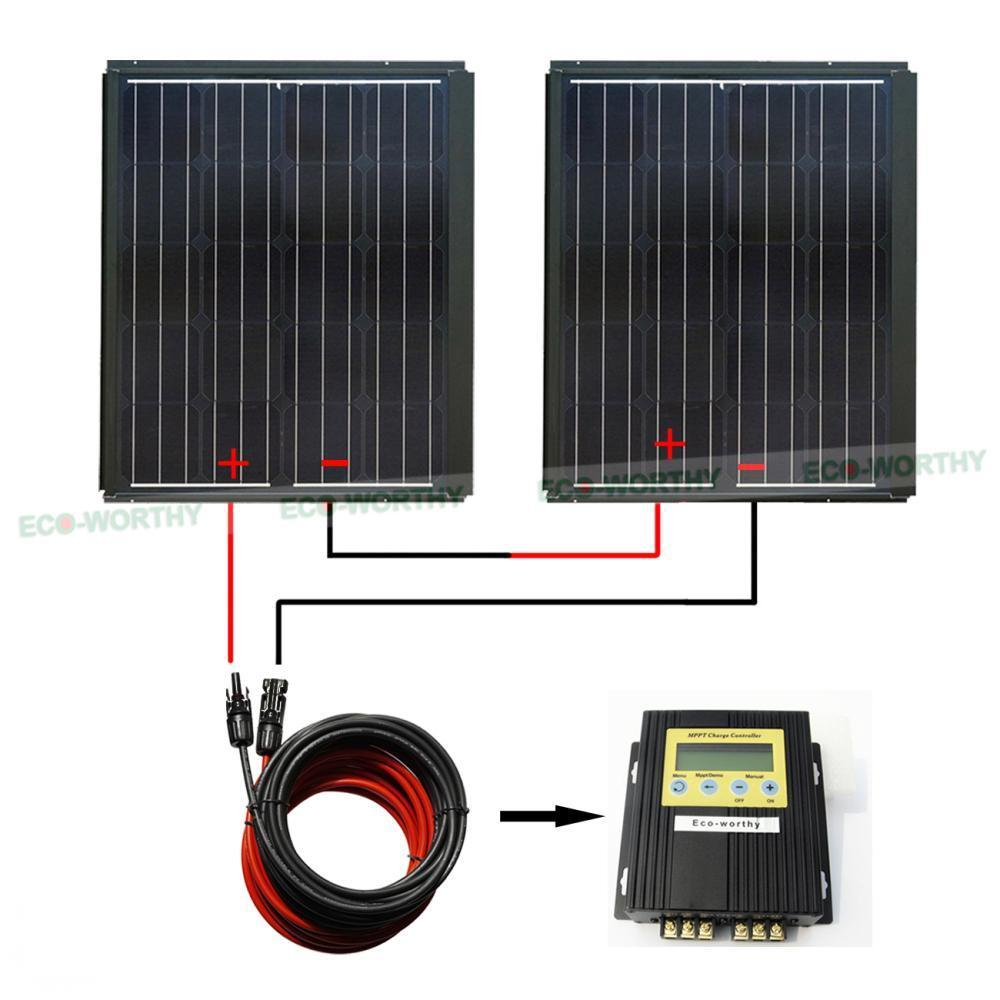 Mppt Series Kit 180 Watt 290w Pv Mono Solar Panel For 12v Rv Wiring Panels Boat Home In Cells From Consumer Electronics On Alibaba Group