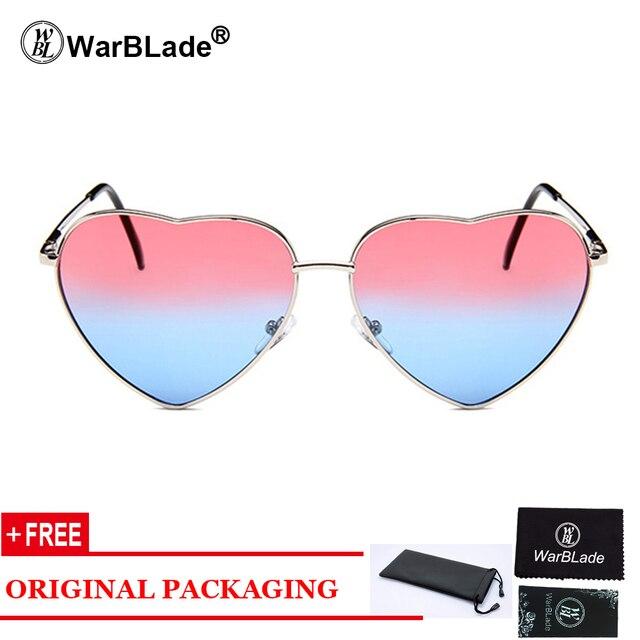 Forma do amor Coração Óculos De Sol Das Mulheres Marca de Design Retro  Frame Da Liga 3f0792f0b9