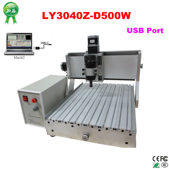 500W spindle CNC Machine LY 3040Z-D500 USB CNC Cutting Machine for aluminum wood PCB cnc router wood milling machine cnc 3040z vfd800w 3axis usb for wood working with ball screw