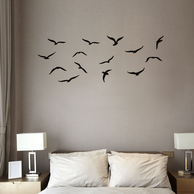 Waterproof Flying Birds Wall Stickers Home Decor Wall Decals