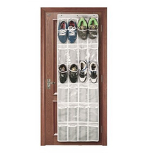2019 24 Pockets Simple Houseware Crystal Clearing Over the Door Hanging Shoe Telephone Organizer