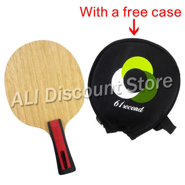 61second 3004 Wooden Table Tennis Blade Shakehand FL with a free small case