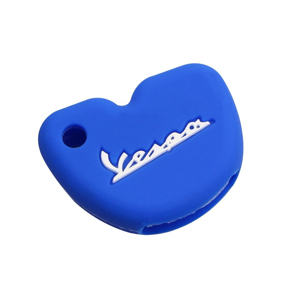 Силиконовый чехол для ключей от машины защитный чехол s подходит для Vespa Enrico Piaggio GTS300 LX150 Fly 125 3vte Gts 200 ключ для мотоцикла - Название цвета: Blue