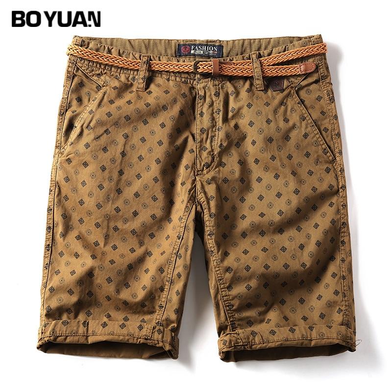 BOYUAN 2018 New Arrivals Fashion Men Cargo Shorts Straight Loose Fashion Cotton Mans Short Trousers Bottoms Shorts Men GB8772