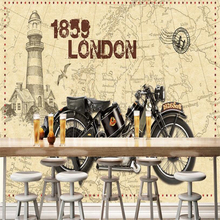 beibehang papier peint mural 3d Papel de parede custom vintage wallpaper nostalgic motorcycle 3d wallpaper home decor mural цена в Москве и Питере