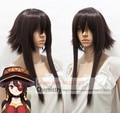 KonoSuba Megumin Cosplay peluca con casquillo