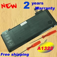 Replacement laptop battery For Apple Macbook Pro A1278 13 2009 - 2012 Unibody Battery A1322 020-6547-A аксессуар аккумулятор tempo a1322 63 5w для apple macbook pro 13 a1278