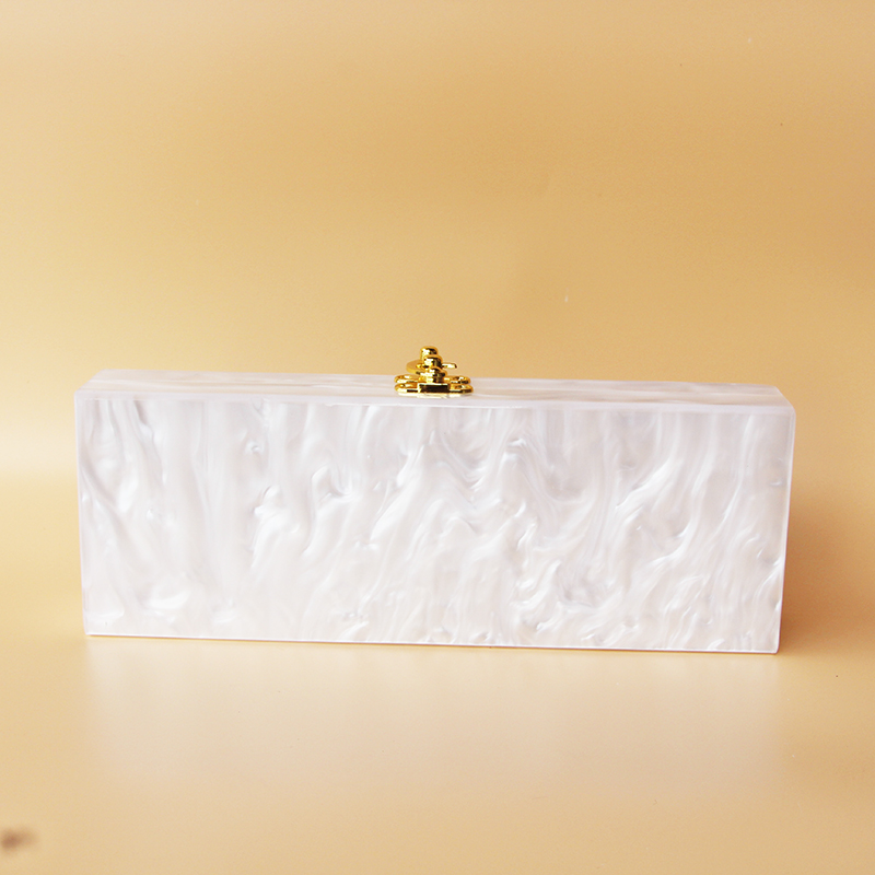 2017 Personality Pink Pearl Acrylic Name Bag evening clutch bag Custom Letter acrylic hard box clutch handbag small party purs - 4
