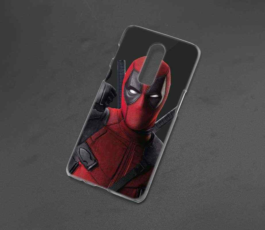 designer fashion 95120 204bd Transparent Hard Case For Oneplus 6 Cool Marvel Hero Deadpool Printing  Drawing Hard Phone Cases Cover For Oneplus 6