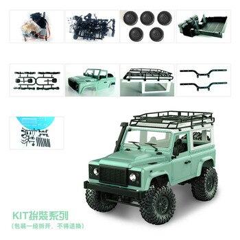 2,4G RC cars KIT versión coche MN90 MN91 dos estilos D90 Defender Pickup Control remoto camión juguetes para niños regalo