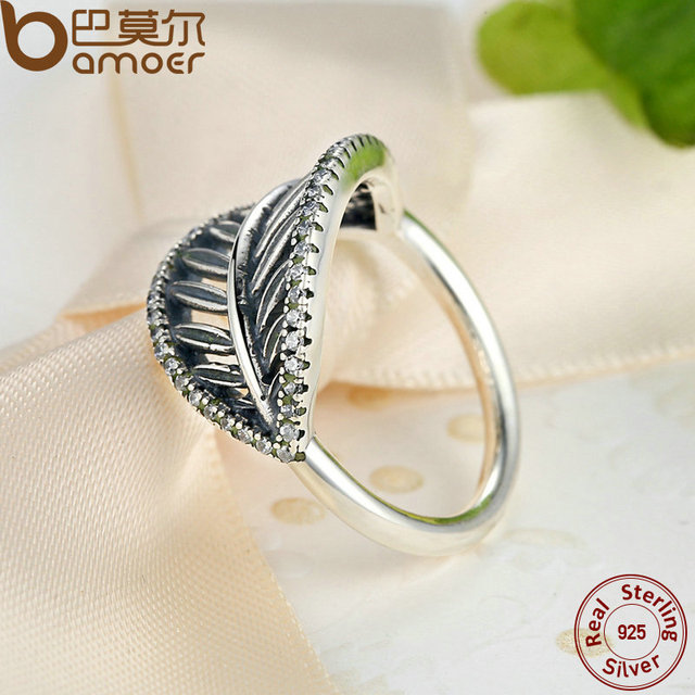Sterling Silver Tropical Palm Leaf Ring