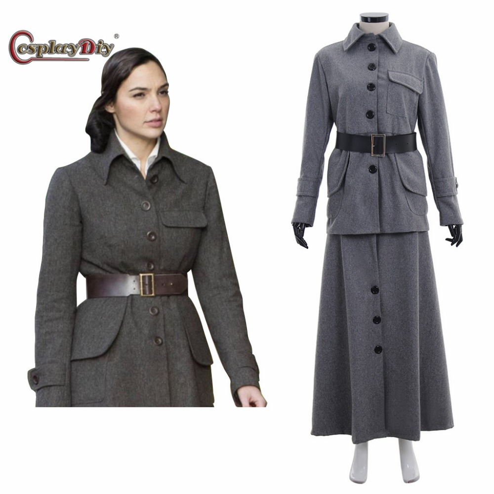 Cosplaydiy Wonder Woman Cosplay Costume Diana Prince Woolen Cosplay Suit Women Costumes for Halloween Outfit Custom Made J10