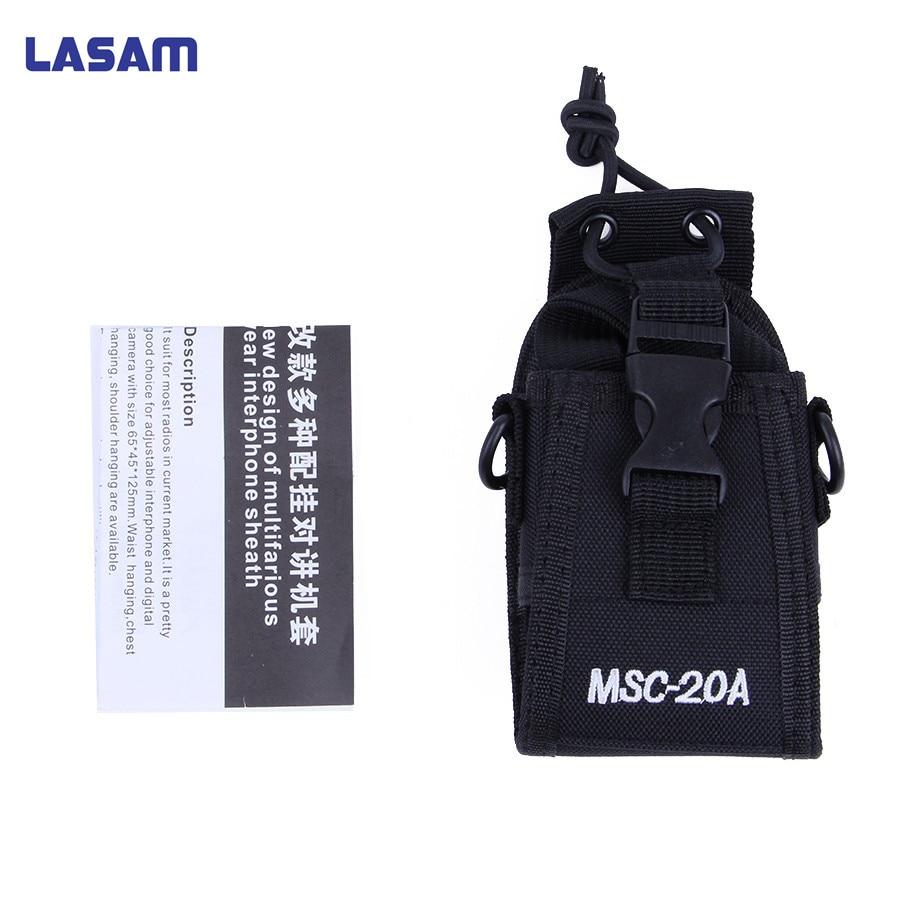 LASAM Portable Radio Case Holder Holster Pouch Case For Motorola Kenwood Baofeng UV-5R UV-82 UV8D UV6 For Midland Yaesu MSC-20A