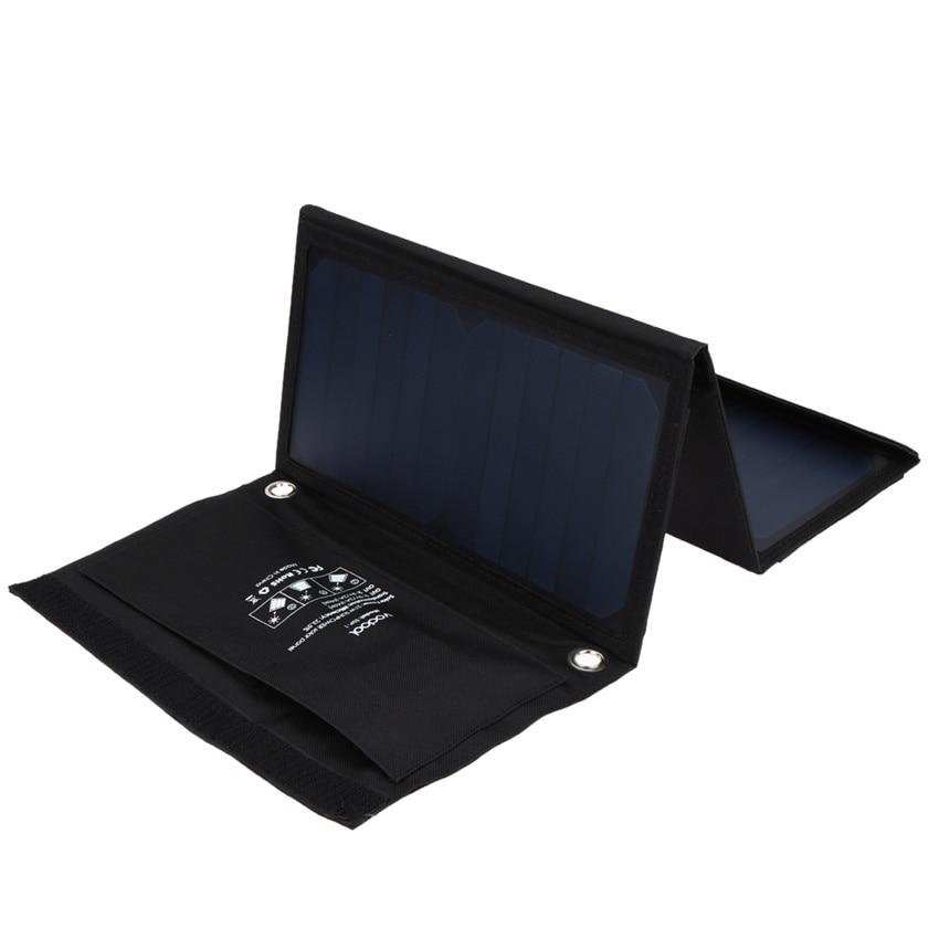 21 Вт vodool Солнечный Зарядное устройство с двумя USB Порты и разъёмы складной Портативный Панели солнечные для iphone 6S 6 plus, Android, для Samsung