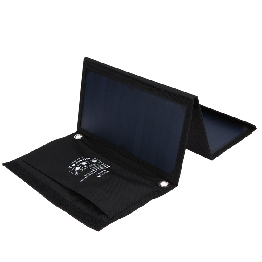 Prix pour 21 W Vodool Chargeur Solaire avec Double Port USB Pliable Portable Panneau Solaire Pour iphone 6s 6 plus, Android, pour Samsung