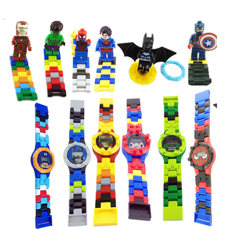 Super Hero Watch Building Blocks Marveling Avengers Figures Bricks Toys Compatible With Legoed Minecrafted Block Watch Excellent Quality Blocks