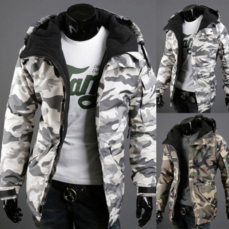 Bigsweety New Fashion Camouflage Coats Spring Autumn Jacket Mens Parkas Outerwear Hooded Cotton-padded Jacket Men Clothing XXL