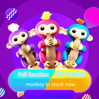 Happy Monkey Pack 6 Color Toys Interactive Monkey Smart Finger Baby Monkey Induction Kids Pet Toys