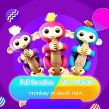 happy monkey pack 6 Color Toys Interactive Monkey Smart Finger baby monkey Induction kids pet toys for children finger monkey(China)